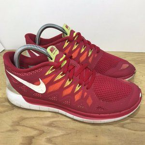 NIKE FREE 5.0 Running Shoe Legion Red/White sz 8.5